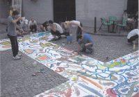 perfomans na cesti slikari pokazali svoje umijeće u slikarstvu