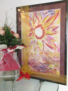 Poklon likovnog ateljea i članova skupštine osnivaču i staroj predsjednici Sunčani Kovačić
