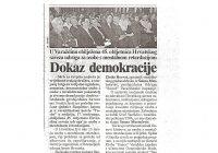 2002.15.11. Prvi nastup dramske grupe na 45. obljetnicu Hr. saveza udruga u Varaždinu